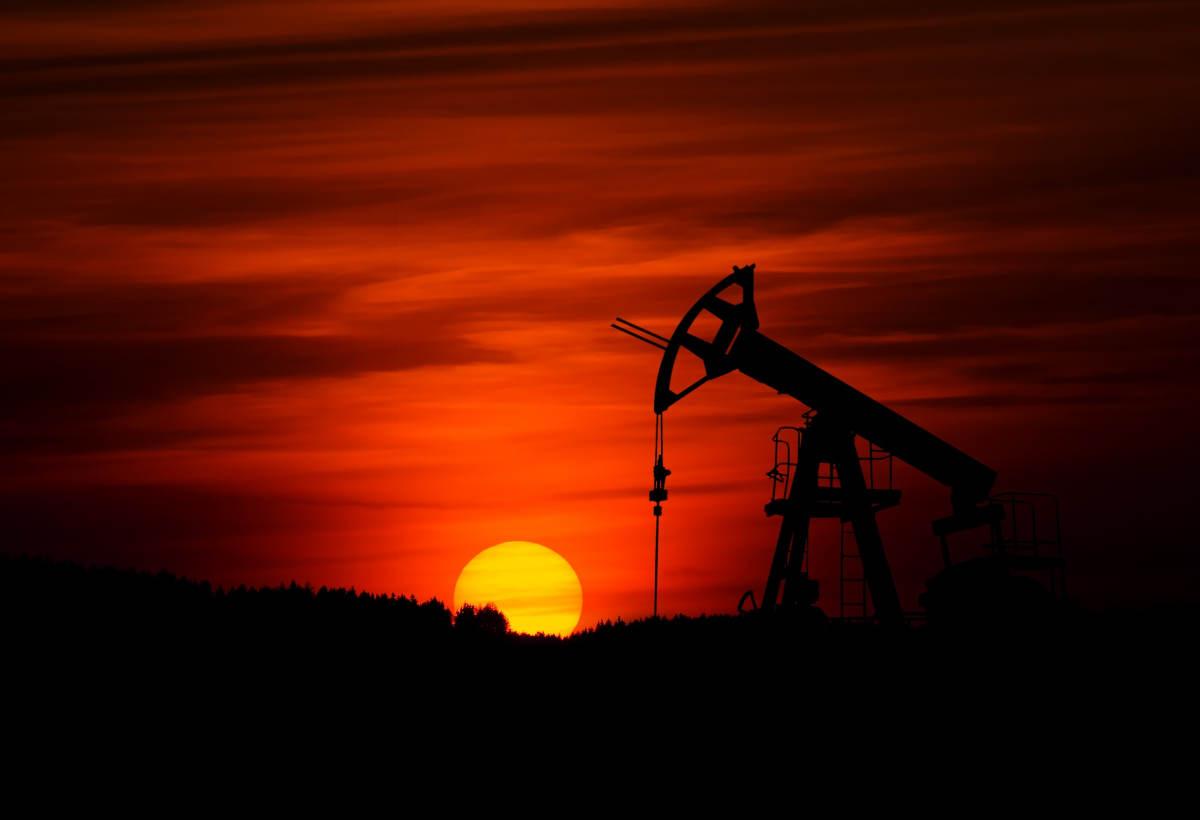 Une pompe à pétrole.