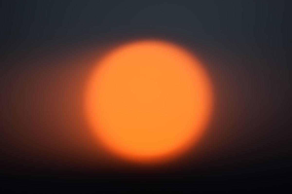 Le Soleil dans le ciel.