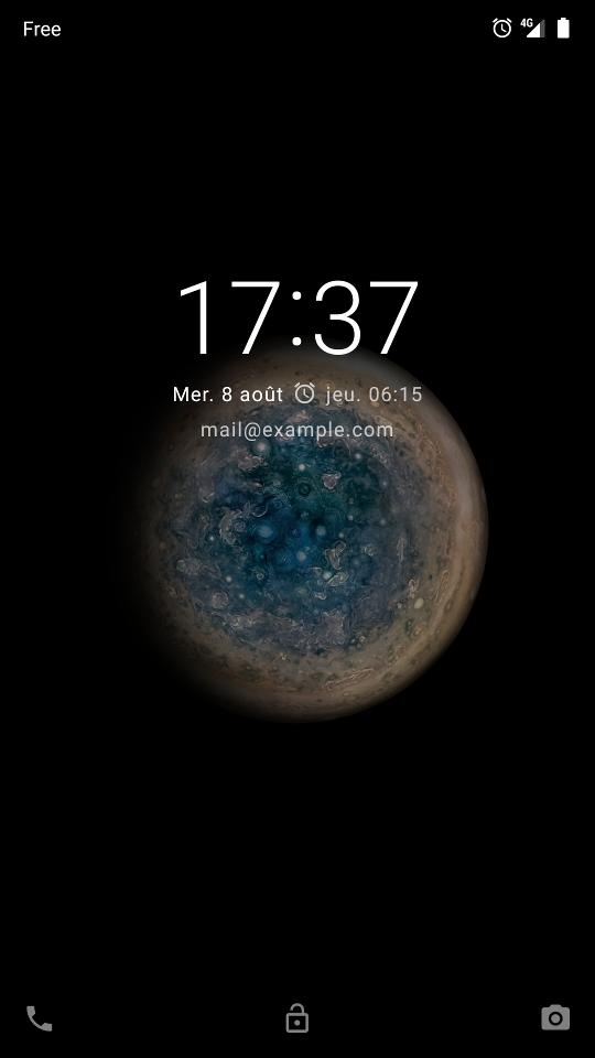 capture d'écran du message qui s'affiche alors