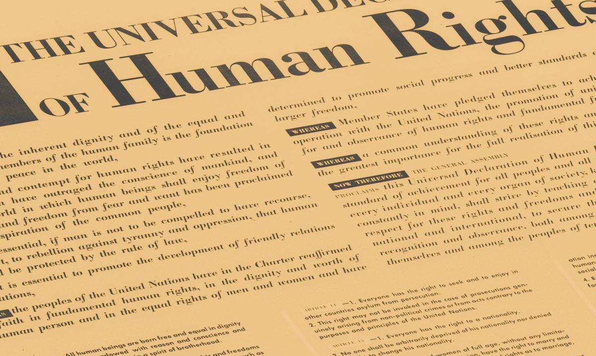 image de la déclaration des droits de l'homme