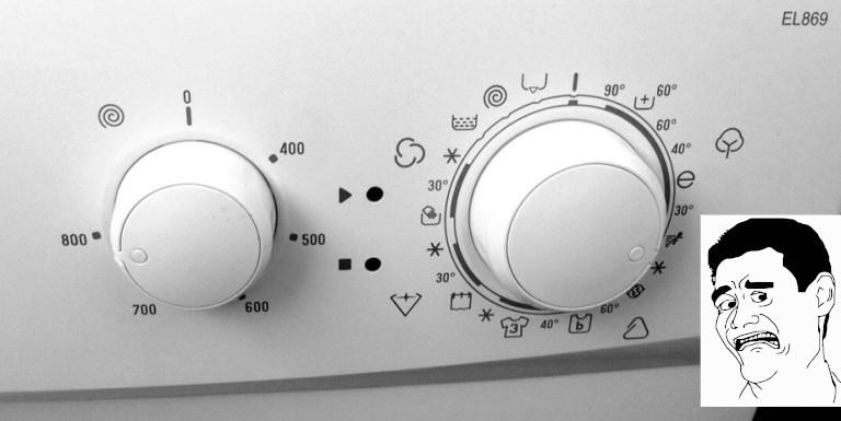Interface machine à laver.