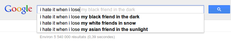 I hate it when I lose my black friend in the snow