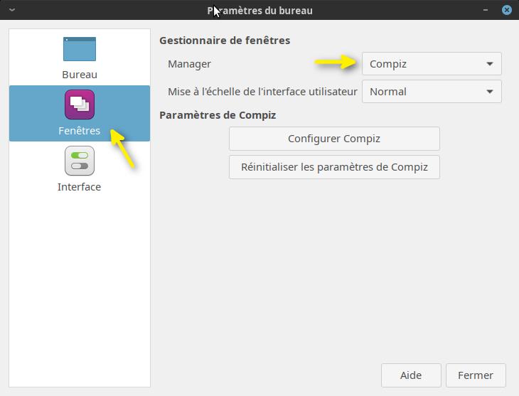 Installer Compiz et le cube de bureau sous Linux