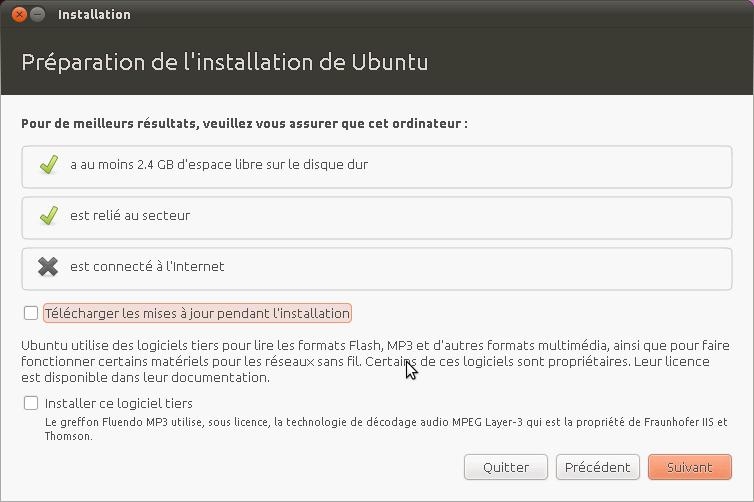 ne peut pas installer ubuntu à partir de cd